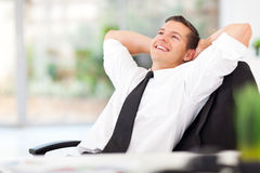 Businessman daydreaming Stock Image