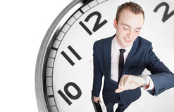 Businessman deadline Royalty Free Stock Photos
