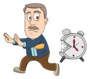 Businessman - Deadline Royalty Free Stock Image