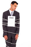 Businessman debt Royalty Free Stock Images