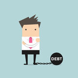 Businessman with debt burden Stock Images