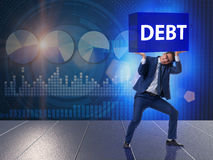 The businessman in debt business concept Royalty Free Stock Photo