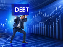 The businessman in debt business concept Stock Images