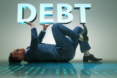 The businessman in debt business concept Royalty Free Stock Image