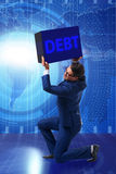The businessman in debt business concept Royalty Free Stock Images