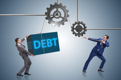 The businessman in debt business concept Stock Photo