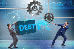 The businessman in debt business concept Stock Photography