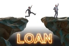 The businessman in debt and loan concept. Businessman in debt and loan concept royalty free stock photo
