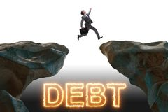 The businessman in debt and loan concept. Businessman in debt and loan concept royalty free stock photography