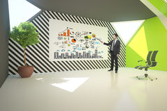 Businessman delivering business presentation Stock Photos