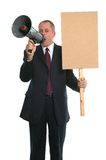 Businessman demonstration Stock Photography