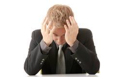 Businessman in depression Stock Photo