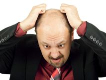 Businessman in depression Royalty Free Stock Photos