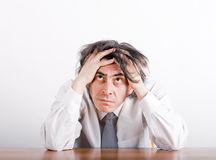 Businessman in depression Stock Photography