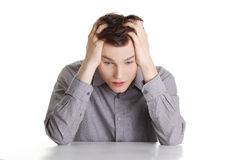 Businessman in depression Stock Photos