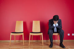 Businessman depression Stock Image