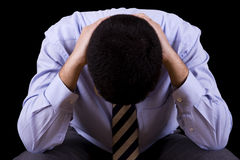 Businessman with a depression Royalty Free Stock Photo