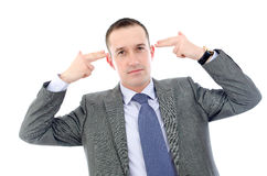 Businessman in depression Stock Photos