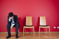 Businessman depression Royalty Free Stock Image