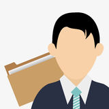 Businessman design. avatar icon. Colorfull illustration,. Business concept with icon design,  illustration 10 eps graphic Royalty Free Stock Photography