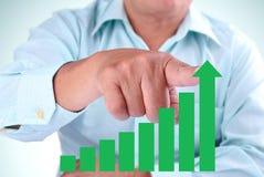 Businessman designate upward Stock Images