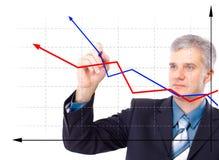 Businessman designing a plan royalty free stock image