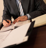 Businessman at desk royalty free stock photography