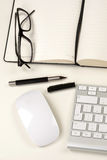 Businessman desk Stock Images
