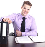 Businessman at desk Stock Image