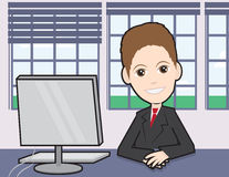 Businessman at a desk Stock Photos