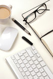 Businessman Desk And Coffee Stock Images