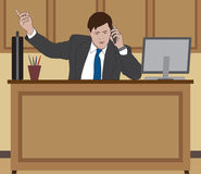 Businessman at desk Stock Photography