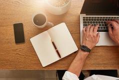 businessman desk his working Στοκ Εικόνα