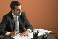 Businessman at Desk - Horizontal Stock Image