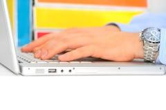 Businessman desktop Stock Image
