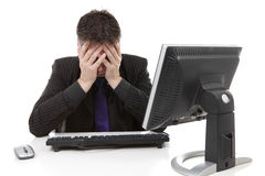 Businessman in despair Royalty Free Stock Images