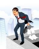 Businessman in despair Stock Images