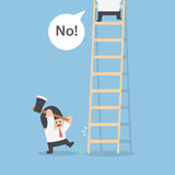 Businessman destroy ladder of his rival by axe. VECTOR, EPS10 Stock Images