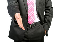 Businessman detail photo, handshake Royalty Free Stock Photography