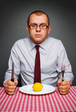 Businessman on a diet Stock Photos