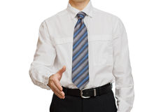Businessman with different gestures hands Royalty Free Stock Photography