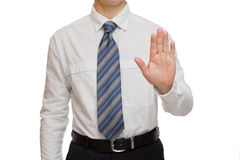 Businessman with different gestures hands Royalty Free Stock Photo