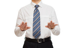 Businessman with different gestures hands Stock Photo