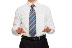 Businessman with different gestures hands Royalty Free Stock Photos