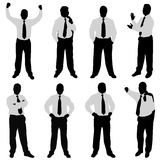 Businessman (different positions) Royalty Free Stock Image