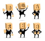 Businessman in different positions Stock Images