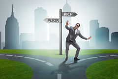 The businessman in difficult choice concept Royalty Free Stock Images