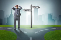The businessman in difficult choice concept Stock Images