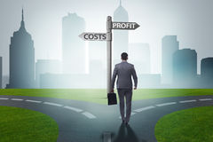 The businessman in difficult choice concept. Businessman in difficult choice concept Stock Images