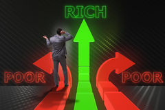 The businessman in difficult choice concept Royalty Free Stock Photo